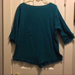 Soft Surroundings xl cotton gauze crinkle tunic